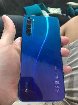 Xiaomi redmi note 8, en perfecto estado. 64 interna y 4 de ram