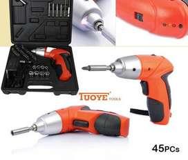 Destornillador Inalámbrico Tuoye Tools X 45 Pcs