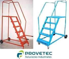 Escalera Rodante Tipo Burro Para Construcción, Almacenes, Depósitos CONSULTANOS DIFERENTES MEDIDAS!