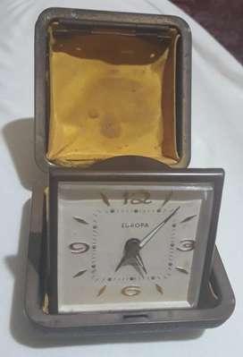 Reloj Antiguo de Mesa de Viaje Europa Germany 2 Jewel