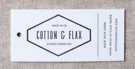 Etiquetas colgantes hangtag para ropa, carteras, zapatillas, accesorios, etc.