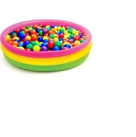 Kit Piscina Inflable Intex Multicolor Pequeña + 100 Pelotas