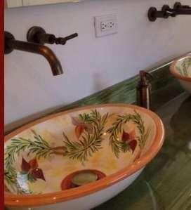 Decore sus lavamanos con los mas bellos lavamanos pintados a mano