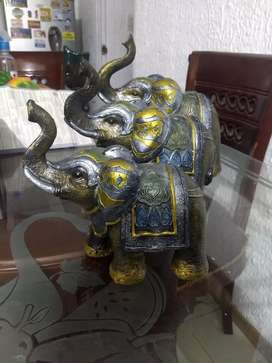 Elefantes en yeso
