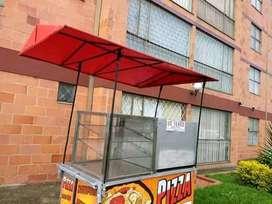 Se vende carro para pizza