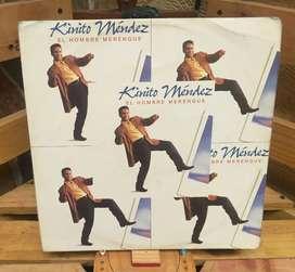 Long Play Lp Dísco Acetato Pasta Vinyl Kinito Mendez El Hombre Merengue