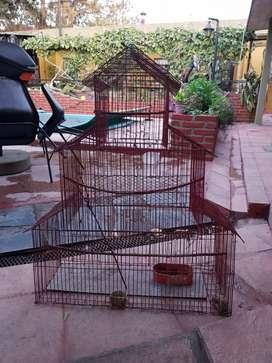 jaula para pajaro usada