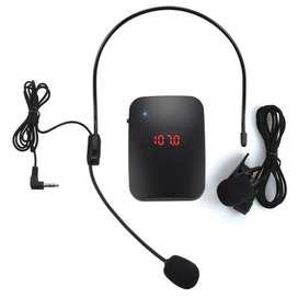 MICRÓFONO INALÁMBRICO transmisor de Radio FM auriculares Collar guía