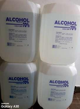 VENTA DE ALCOHOL 20 LITROS-70%PURO-CERTIFICADO