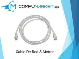 Cable de red 3 metros nuevo y facturado