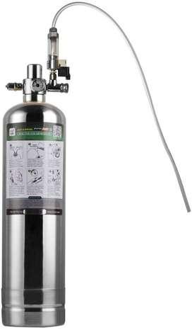 Sistema generador de CO2 cilindro, Kit de reactor de dióxido de carbono con válvula automática y difusor para acuario