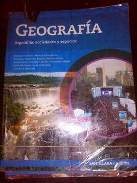 Libro Geografía: sociedades y espacios. Santillana en líneana en línea