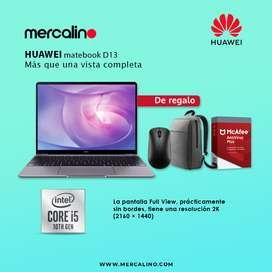 Huawei Matebook 13 i5 + 512GB Gris + Mochila + Mouse + Antivirus