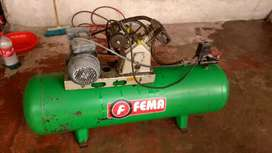 Vendo permuto compresor motor 3hp monofasico 200 litros