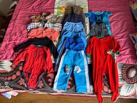 Lote de ropa para bebes talla 12 meses