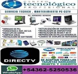 TÉCNICO DE PC NETBOOK NOTEBOOK TABLET HACEMOS LIMPIEZA RECUPERACIÓN DE ARCHIVOS ANTIVIRUS