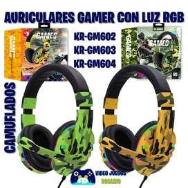 Auriculares Camuflados con Luz RGB