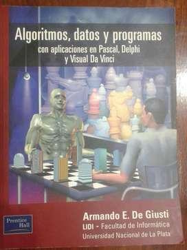 Algoritmos Datos y Programas Armando E De Giusti