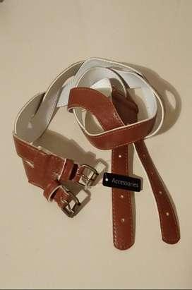 Cinturón Mujer Cuero ecológico