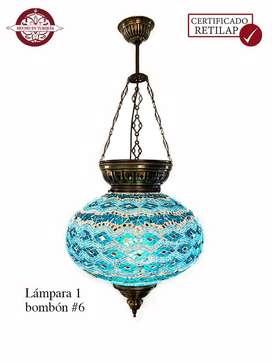Lámpara turca de techo #6