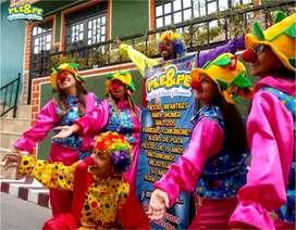 Fiestas infantiles, recreadores, animaciones, cumpleaños, baby shower, personajes, títeres, magia