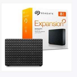 Disco duro externo Seagate , 8TB, USB 3.0.