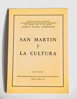 San Martín y la Cultura 1978  Inst. Nac. Sanmartiniano