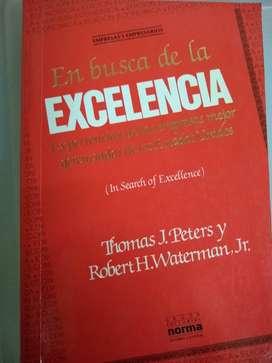 libro En busca de la excelencia. Peters y waterman