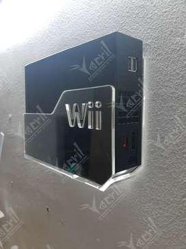 Soporte pared  Base Repisa  para Nintendo Wii + soporte para el control move y la palanca + Sop de la fuente de poder