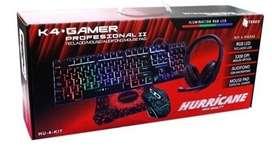 Kit Gamer 4 en 1 Hurricane Pro II