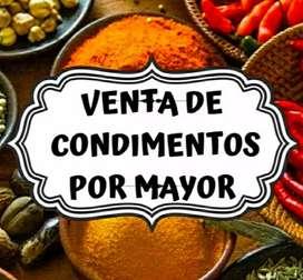 VENTA DE ESPECIAS Y CONDIMENTOS POR MAYOR
