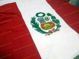 Bandera del Perú de buena calidad, bandera nacional de Perú con escudo