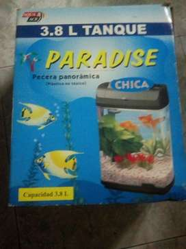Pecera Paradise Chica con Luz
