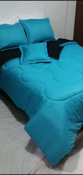 Combo plumón azul turquesa - negro