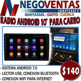 """RADIO ANDROID DOBLE DIN 10"""""""