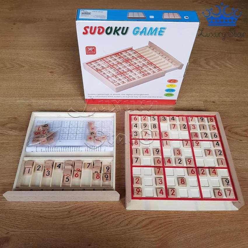 Sudoku Madera Juego Mental Matematico Numeros 100 Ejerccios 0