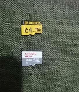 MEMORIA MICRO SD DE 64 Y 16 GBs CLASE 10