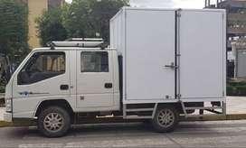 Camión Furgón De Doble Cabina De Dos Toneladas