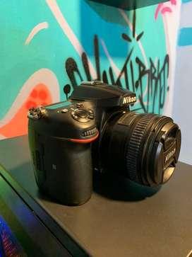 NIKON D7200, 50mm 1.8, un lente zoom, flash y soft