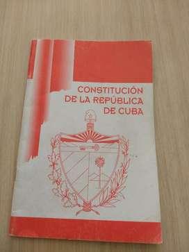 Constitución República de Cuba