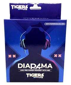 Diadema Tigers para play 4, celular, xbox y computador (incluye boton de mute para microfono)
