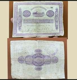 100 pesos 5 Marzo 1900