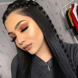 Maquillaje y planchado en promo