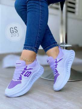 Zapato Tennis Deportivo Skechers Para Mujer