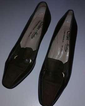 BARRACAS - Mocasines Zapatos Mujer Cuero Gamuza 37 Zpm2018