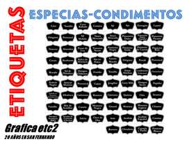 ETIQUETAS DE CONDIMENTOS X 76