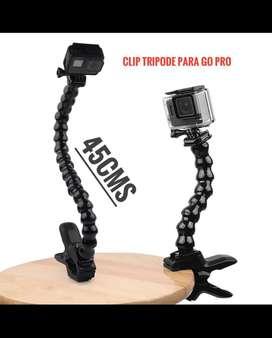 Clip trípode flexible 45cms para go pro NUEVO.