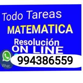 Desarrollo de exámenes y tareas todo matemática nivel superior