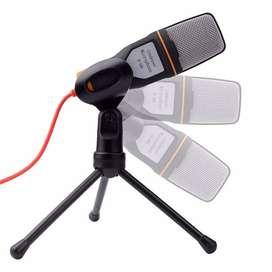 Microfono Profesional Condensador Con Tripode Pc Celular Etc