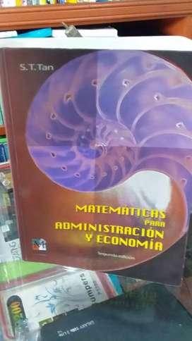 Matemáticas para administración y economía de S.T. tan